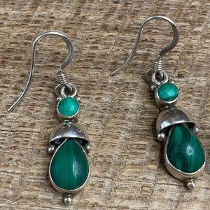 Jewelry - TJ 925 Sterling Silver Malachite Earrings